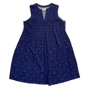 Old Navy V Neck Sleeveless Summer Dress Patterned